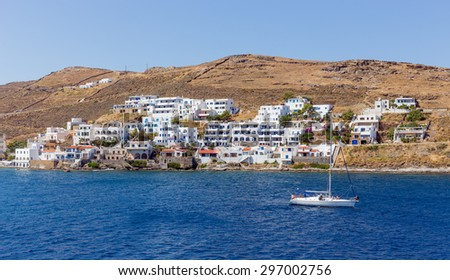View of Merichas, Kythnos island, Cyclades, Greece
