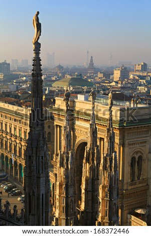 View of Milan Cathedral (Duomo),Italy. - stock photo