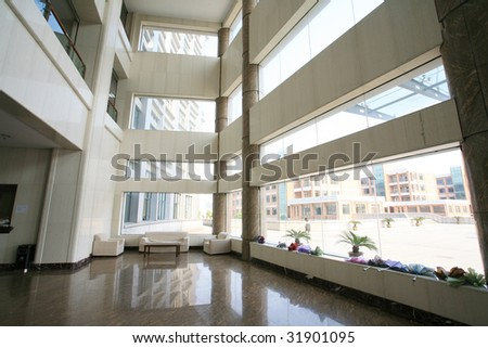 view of modern hall interior