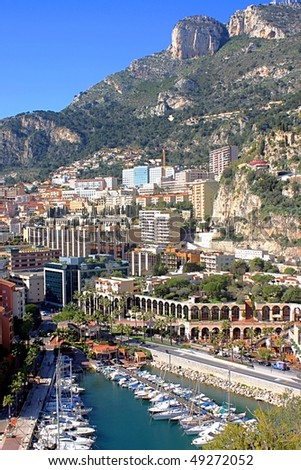 View of Monaco - stock photo