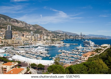 View of Monaco harbour, Monte Carlo
