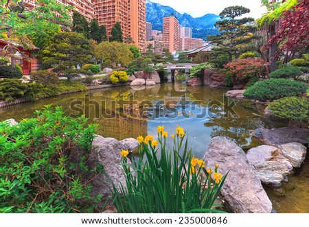View of Monaco janopic garden, Cote d'Azur, France - stock photo