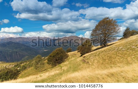 View of Monte Rosa from the top of Mottarone - Stresa - Piedmont - Italy