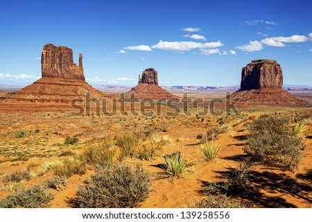 view of Monument Valley, Utah, USA. - stock photo