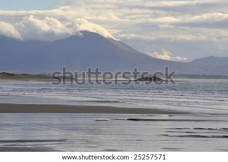 view of Mount Brandon, from Ballyheige Bay, Co.Kerry, Ireland