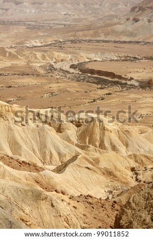 View of Negev desert in the south Israel - stock photo