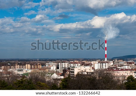 View of New Dorcol state in Belgrade Serbia