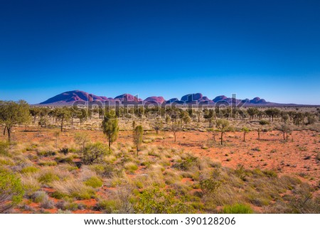View of Northern Territory in Australia - stock photo