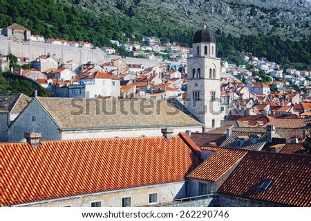 View of Old Fortress Dubrovnik - city in Croatia - stock photo
