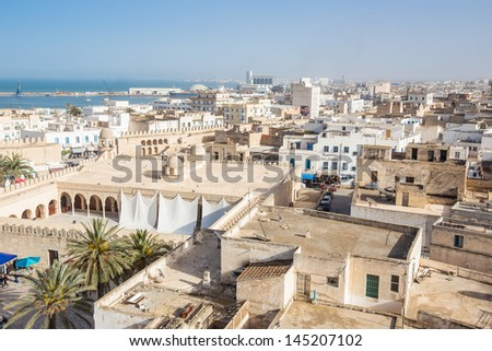 view of old medina in Sousse, Tunisia