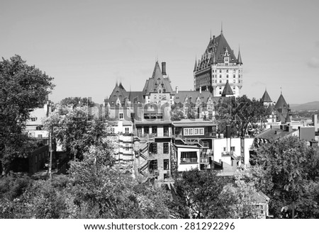 View of Old Quebec City - stock photo