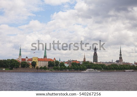 View of old Riga from the bridge
