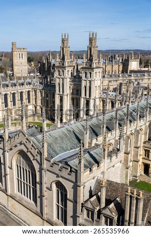 View of Oxford, England. - stock photo