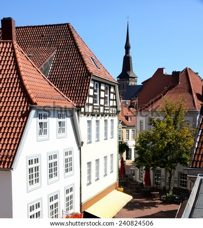 View of panorama Osnabruck, Germany  - stock photo