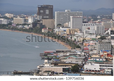 View of Pattaya, Thailand - stock photo