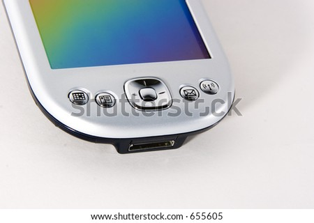 view of PDA - stock photo