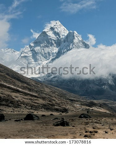 View of peak Ama Dablam - Everest region, Nepal
