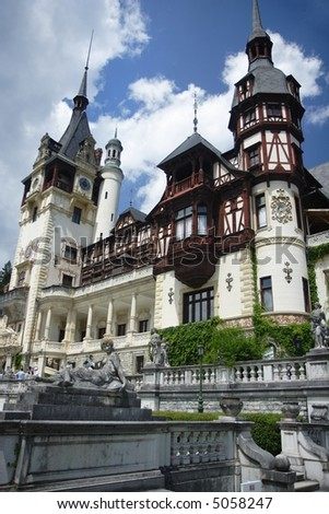 view of Peles Castle, Romania