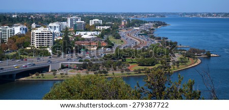 View of Perth from Kings park, Western Australia