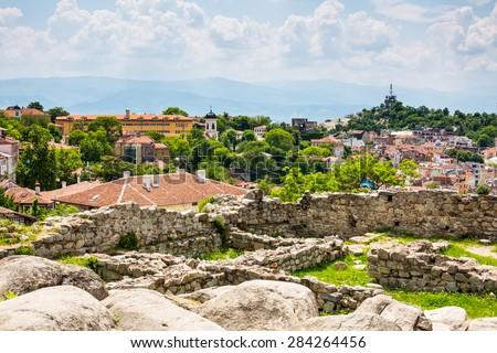 View of Plovdiv city, Bulgaria - stock photo
