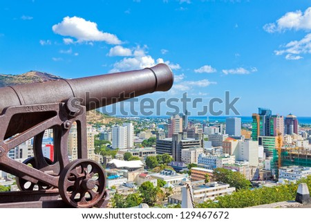 View of Port Louis, Mauritius, Africa - stock photo