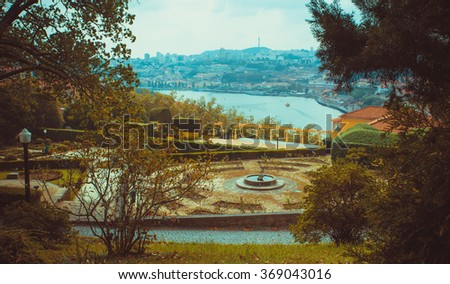 View of Porto from the Crystal garden. - stock photo