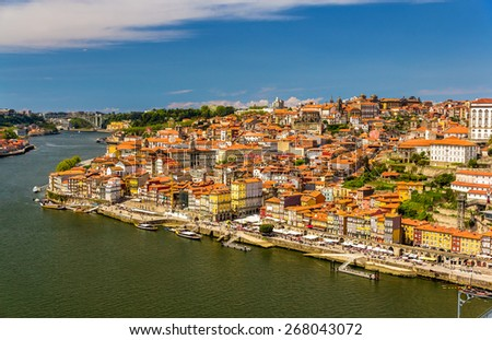 View of Porto over the river Douro - Portugal - stock photo