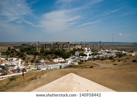 View of portuguese city - Castro Marim