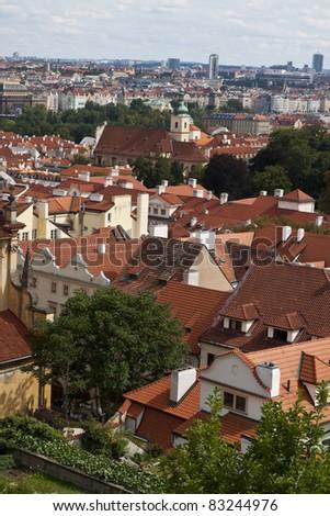 View of Prague Castle - stock photo