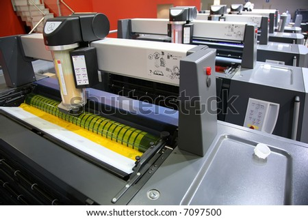 view of printed equipment