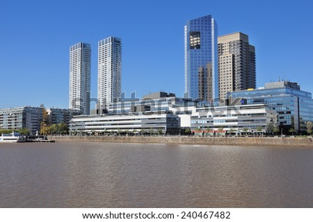View of Puerto Madero, Buenos Aires, Argentina. - stock photo