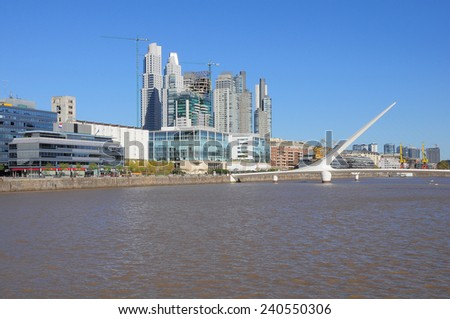 View of Puerto Madero region, Buenos Aires. Argentina. - stock photo