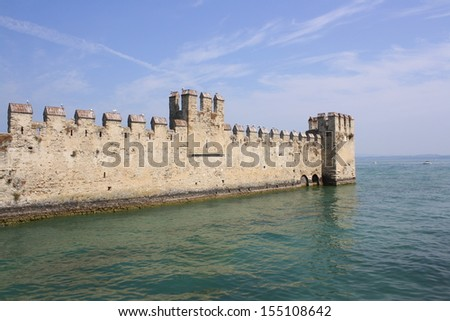 View of Rocca Scaligera Castle, (Lake of Garda, Italy)