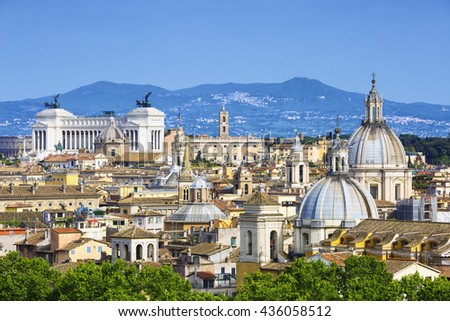 View of Rome, Italy, Europe