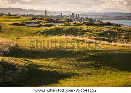 View of Saint Andrews, Fife, Scotland - stock photo