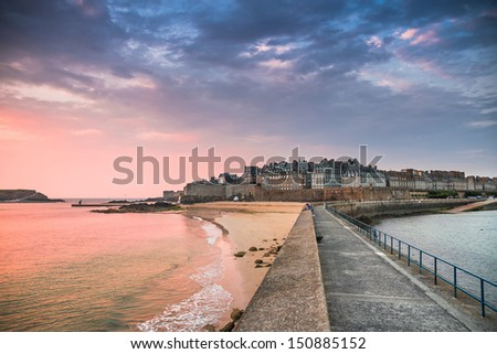 View of Saint Malo, Bretagne, France - stock photo