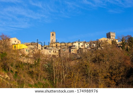 View of San Casciano in Val di Pesa in Italy - stock photo
