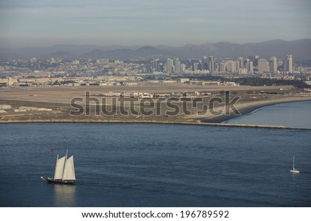View of San Diego, California. - stock photo