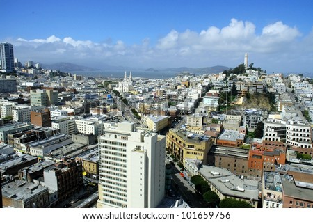 View of San Francisco - stock photo