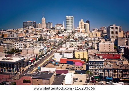 View of San Francisco, USA - stock photo