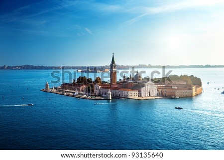 view of San Giorgio island, Venice, Italy - stock photo