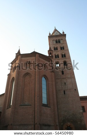 View Of San Lorenzo Cathedral ( Alba, Piemonte Italy) - stock photo