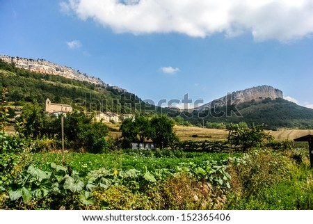 View of San Roman de Campezo mountains (Alava, Spain)