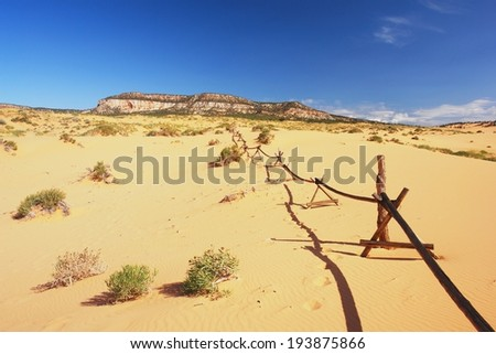 View of sand dunes in Utah - stock photo