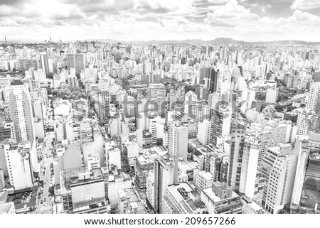 View of Sao Paulo, Brazil - stock photo