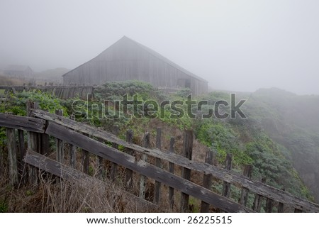 View of Sea Ranch California along trails - stock photo