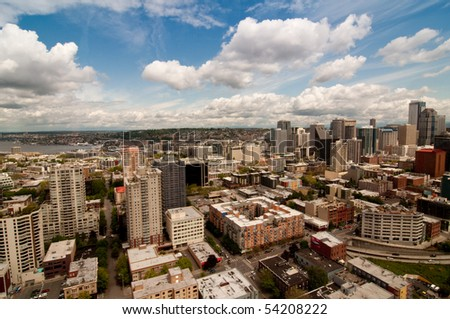 View of Seattle Downtown - stock photo