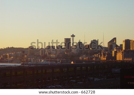 View of Seattle, WA from Safeco Field