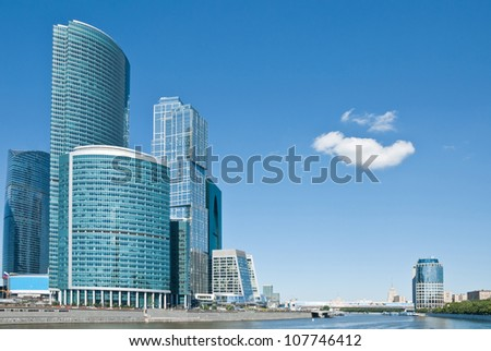 View of Skyscrapers International Business Center, Moscow, Russia - stock photo
