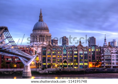 View Of St Pauls shot as HDR